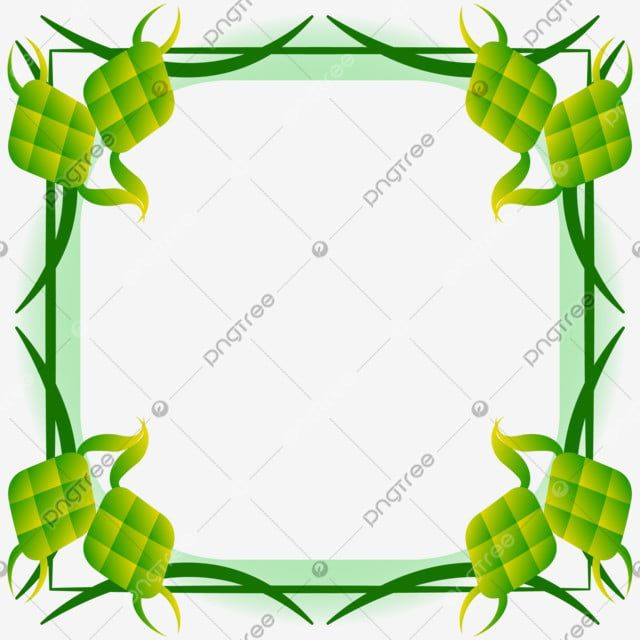 Islamic Frame Border For Eid Mubarak Celebration With Ketupat Food Ketupat Frame Border Png And Vector With Transparent Background For Free Download Eid Mubarak Islamic Celebrations Eid
