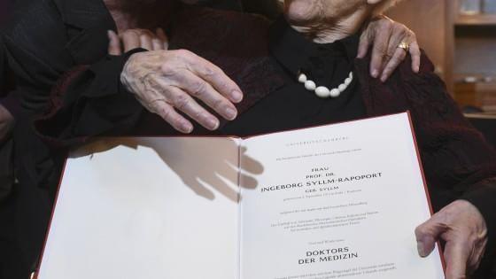 Le leggi razziali le impedirono di sostenere l'esame finale, perché figlia di una donna ebrea. Ora, a quasi 80 anni di distanza, Ingeborg