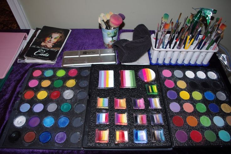 1000 images about face painting kit and storage on for Face paints supplies