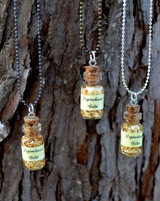 *Rook No. 17: recipes, crafts & whimsies for spreading joy*: St. Patrick's Day Craft: Wee Bottle of Leprechaun Gold Necklace DIY