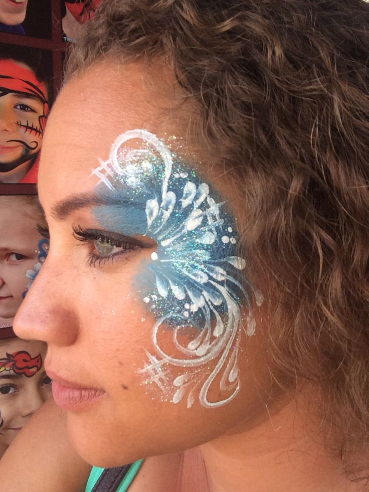 17 best images about face paint frozen on pinterest for Frozen face paint