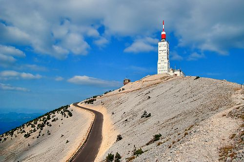 Mont Ventoux, France. I have driven up twice but I have not ridden a bicycle up... yet.