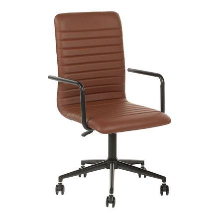 Silla de escritorio Con estructura de acero y tapizada Lewis El Corte Inglés