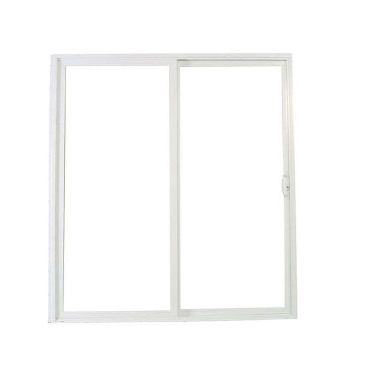 American Craftsman 72 in. x 80 in. 50 Series White Vinyl Sliding Right-Hand Patio Door - 60557RLSA - The Home Depot