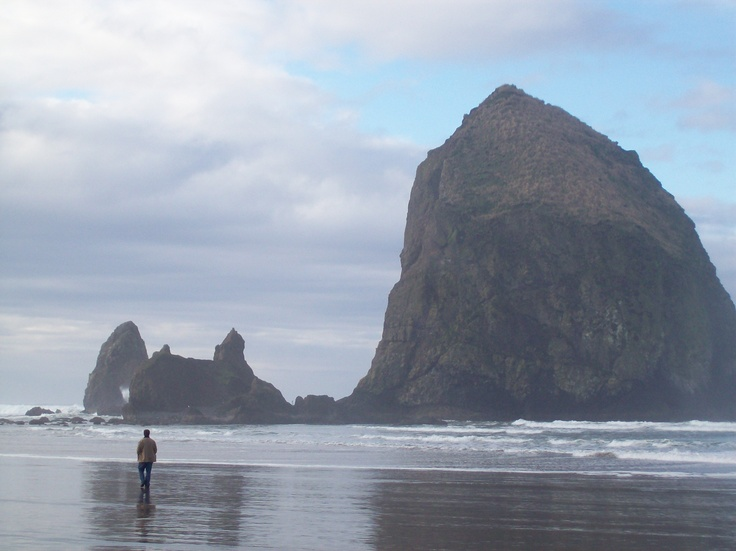 Haystack Rock at Cannon Beach, Oregon (summer beach memories for all the beougher's)