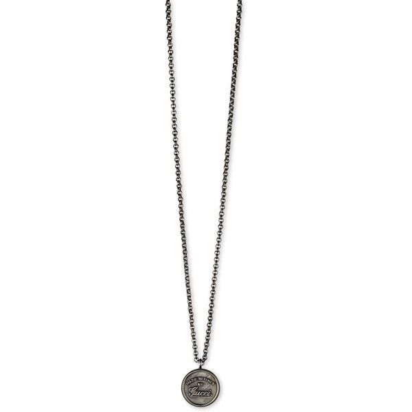 gucci necklace mens. gucci men\u0027s sterling silver craft pendant necklace($380) ❤ liked on polyvore featuring fashion, jewelry, necklaces, silver, necklace mens