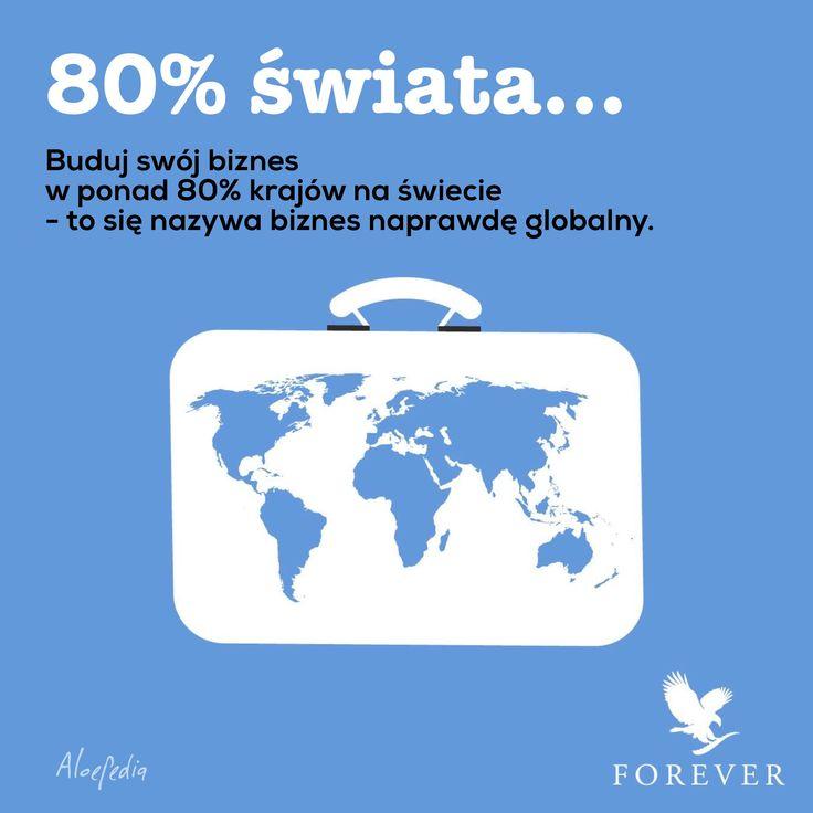 Buduj globalny biznes z Forever. Na zawsze, w 160 krajach świata.