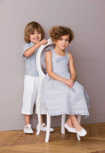 images of children chic clothes | Cyrillus, ensemble chic rayé - Robe Cyrillus cérémonie - Cortege ...