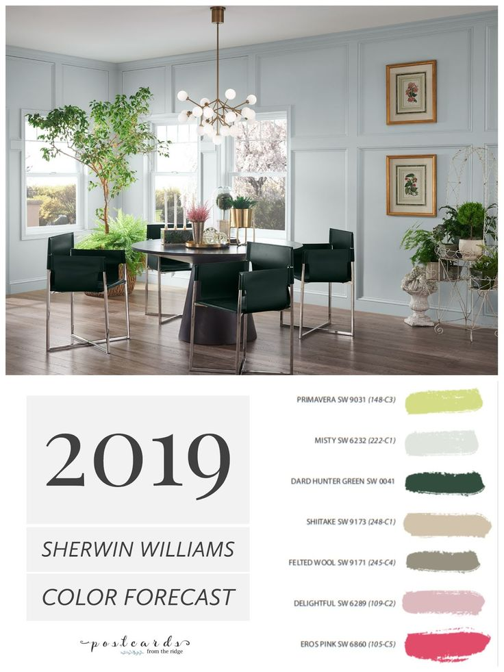 Wall Colour Inspiration: 2019 Paint Color Forecast From Sherwin Williams