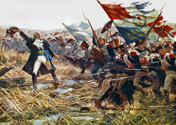 Battle of Jemappes (6 November 1792). One of the first major offensive battles of the war, it was a victory for the armies of the infant French Republic, and saw the French Armée du Nord, which included a large number of inexperienced volunteers, defeat a substantially smaller regular Austrian army.