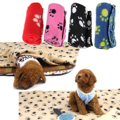 Cat Pet Beds 1x Winter Warm Cozy Pet Paw Print Pet Cat Dog Fleece Soft Blanket Beds Mat Cover Pet Supplies -- Check this awesome product by going to the link at the image. (This is an affiliate link and I receive a commission for the sales)