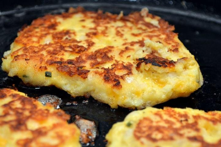 Cheddar Potato Pancakes - November 30, 2011 - Mashed potatoes, sharp ...