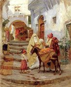 The Orange Seller  by Frederick Arthur Bridgman