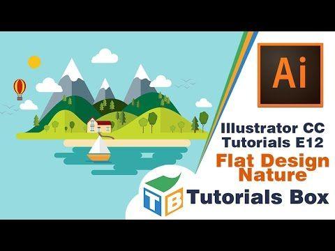 Illustrator CC Tutorials | E12 | Flat Design Nature - YouTube