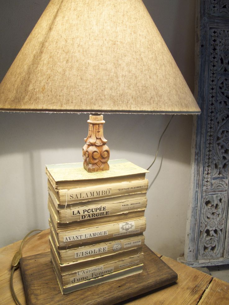 French Vintage Book Lamps A Pair Of Vintage Upcycled Table