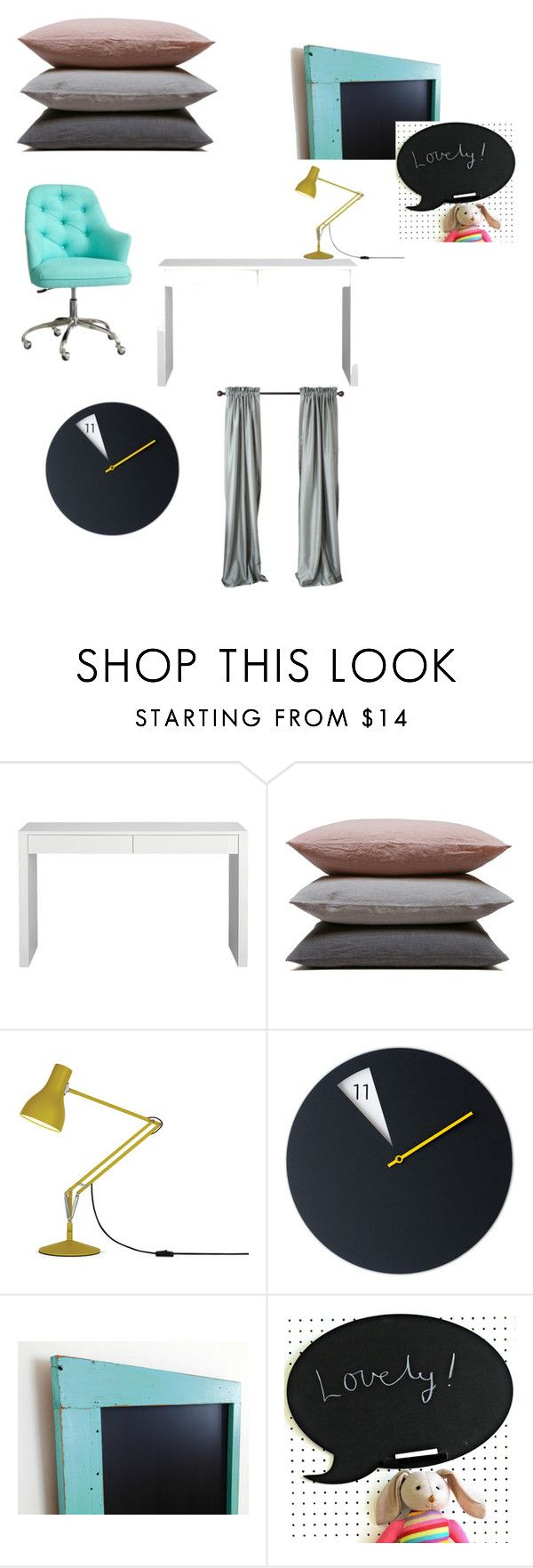 koncepcja 1 by magdalena-grycz on Polyvore featuring interior, interiors, interior design, dom, home decor, interior decorating, CB2, Anglepoise and Hawkins
