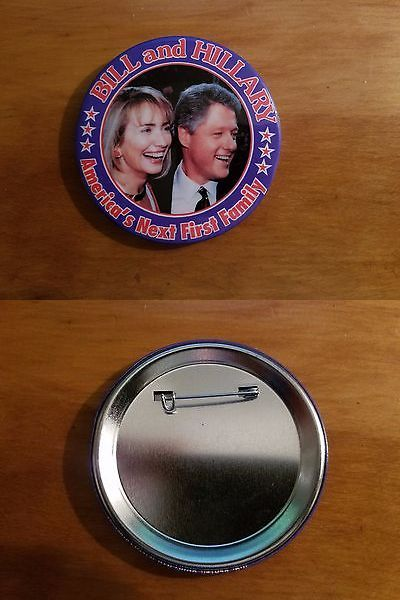 Bill Clinton: Bill And Hillary - America S Next First Family - Clinton Political Pin Button 3 -> BUY IT NOW ONLY: $1.99 on eBay!