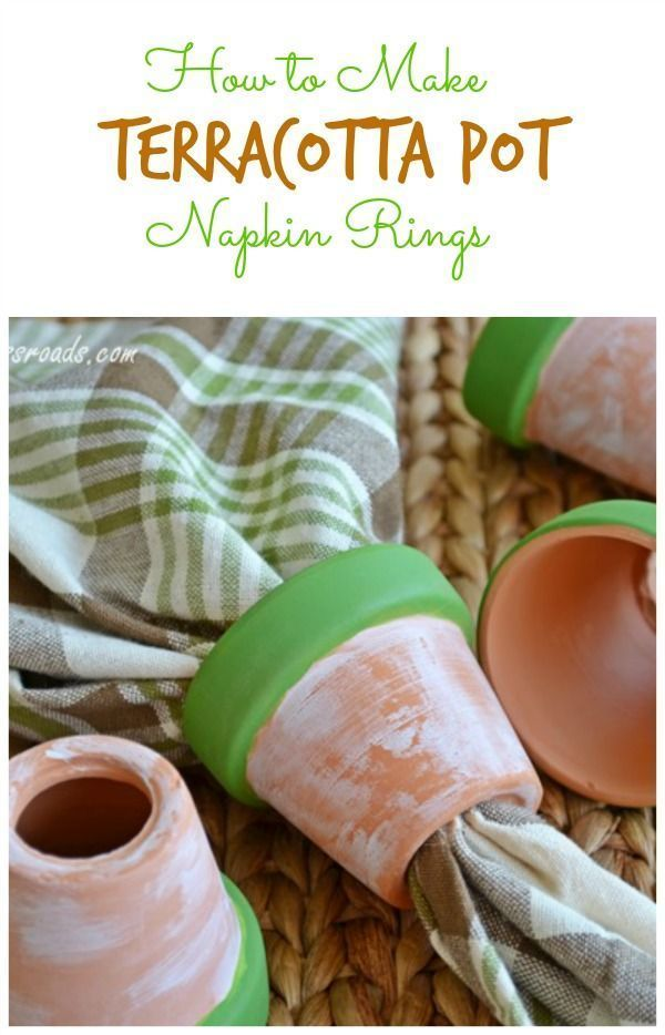 How to Make Terracotta Pot Napkin Rings | Cottage at the Crossroads