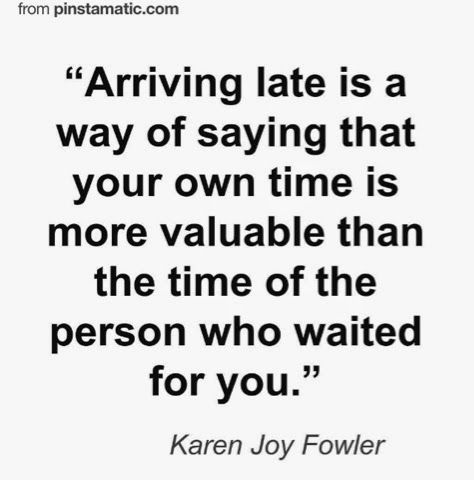 being late is rude quotes - Google Search