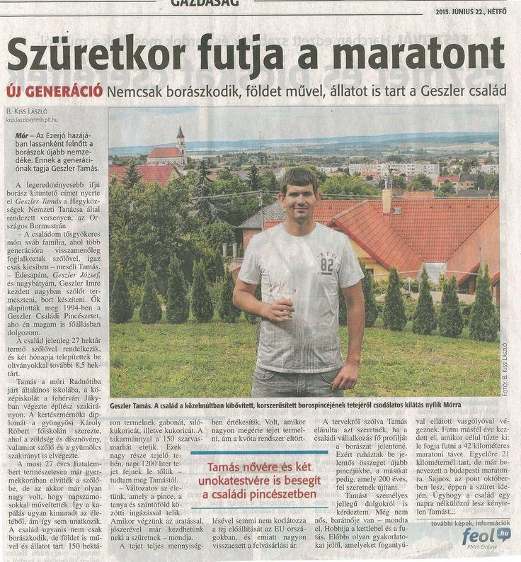 Geszler Tamás- Geszler Családi Pincészet: http://www.geszlerpince.hu/geszler-tamas-a-magyar-bormustra-2015-legeredmenyesebb-fiatal-borasza