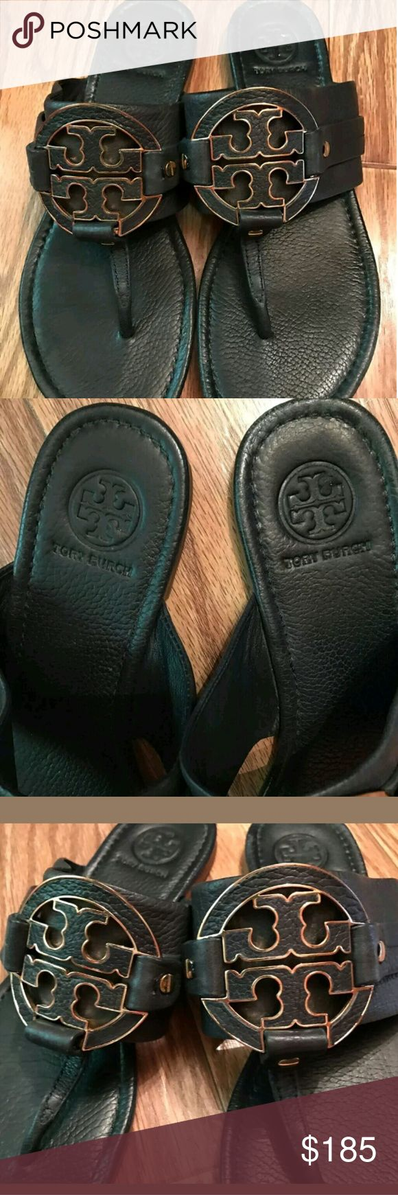 Tory Burch Miller 10.5 Rare color Dark Navy. Great used condition and very  clean!