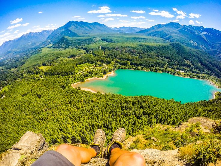 RattleSnake Ledge is spectacular after hiking through the trees