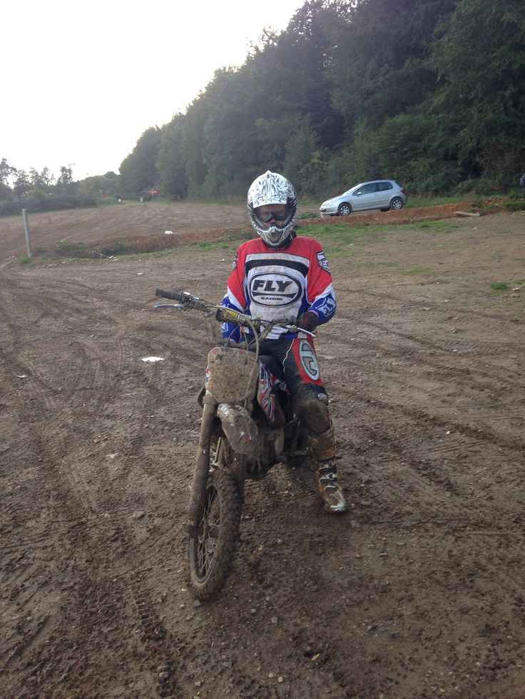 Both bike I looking a lot muddier than the start of the day. Pitbike. Fly racing.