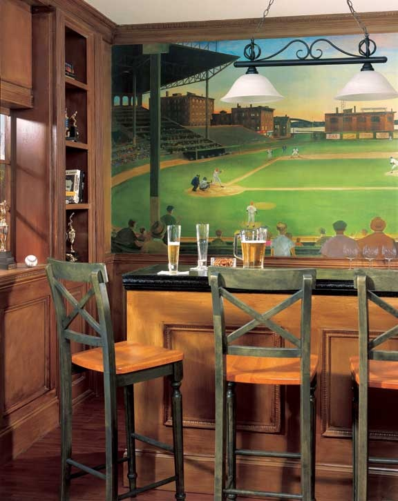 I Love This Basement Or Family Room Baseball Inspiration