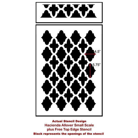 Hacienda Allover Stencil Small Trendy by CuttingEdgeStencils