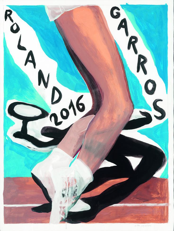 L'affiche de Roland-Garros 2016 - © Marc Desgrandchamps-Galerie Lelong / FFT 2016