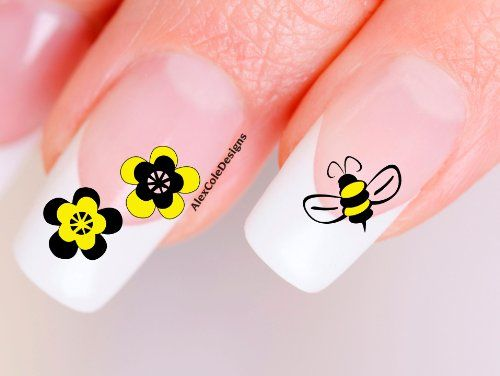Best 25 bumble bee nails ideas on pinterest pencil nails bumble bee nail decals waterslide nail decals bumble bee nail art 399 prinsesfo Image collections