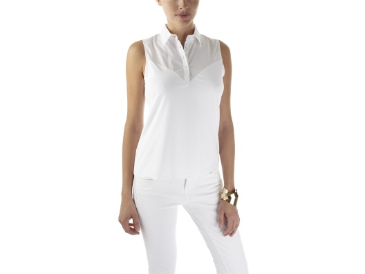 Sleeveless SkinnyShirt by Julie Kalimian.  $39 Layering. Sleeveless and long sleeve versions available.