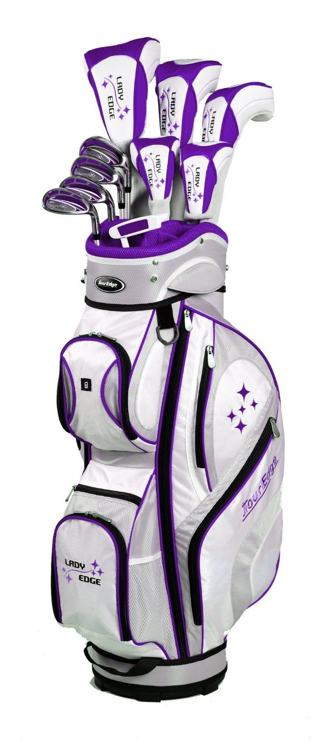 Full of the latest Tour Edge research and technology these womens 2014 lady edge full golf club sets also come with Tour Edge golf's lifetime warranty and exclusive 30 day play guarantee