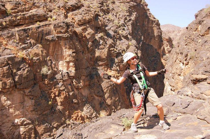 Oman | Canyoning, Snake Canyon. credit: Marie De Peyrecave. view on Fb https://www.facebook.com/SinbadsOmanPocketGuide #oman #sinbad #traveltooman #sinbadpocketguide