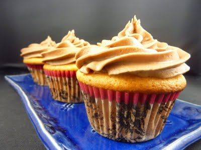 Honey Cupcakes with Nutella Frosting For Meisha