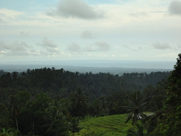This view from Tabanan goes down to the beach, Kuta and even beyond