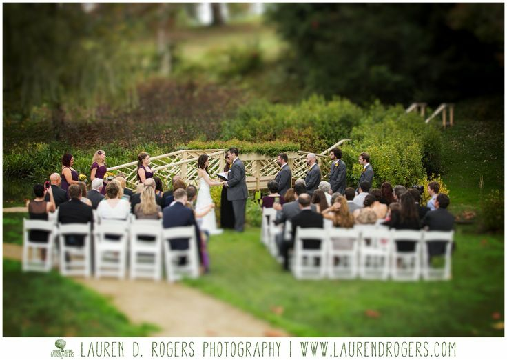 outdoor wedding ceremony virginia wedding photographer lauren d rogers photography boars head inn