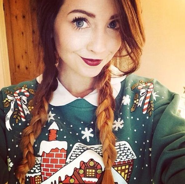 her christmas sweaters (they call them jumpers in the uk) are adorbs