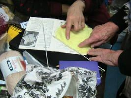 Help with knitting projects at Lee Nova Craft Haberdashery