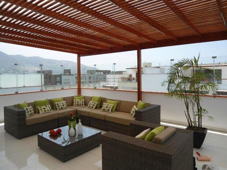 Disfrute su terraza este verano protegiéndose de la luz ultra violeta con un techo sol y sombra de madera con coberturas de policarbonato ...