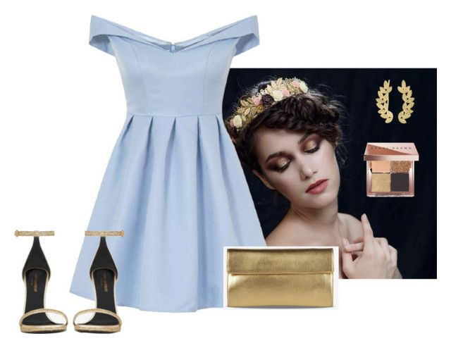 """""""Sans titre #172"""" by hadhri-rania ❤ liked on Polyvore featuring Chi Chi, Yves Saint Laurent, Maison Margiela, Eddera and Bobbi Brown Cosmetics"""