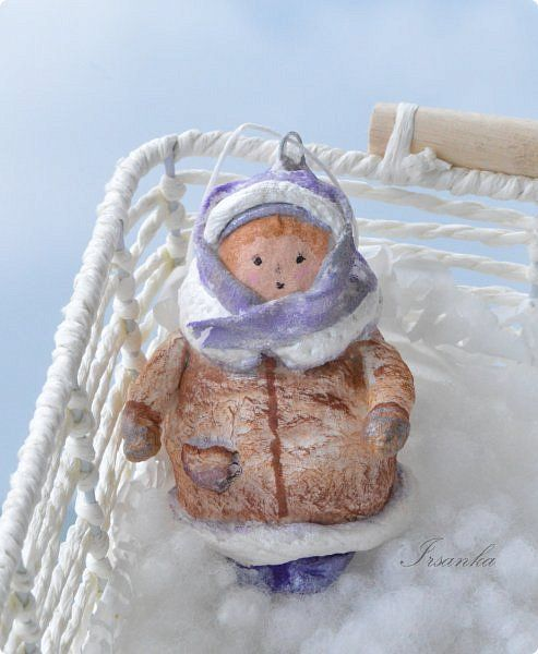Игрушка Новый год Папье-маше Осень осень а не за горами зима Вата фото 1