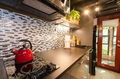 The kitchen from the Ms. Gypsy Soul tiny house
