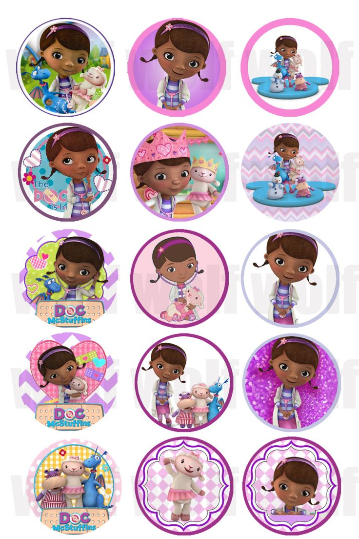 INSTANT DOWNLOAD jpeg Disney Doc Mcstuffins от TheRibbonObsession
