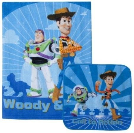 19 74 Disney Pixar Toy Story Bath Towel Wash Cloth Set 2 Pc Blue 24x44 From Get It Here Http A Ffiilliipp 20