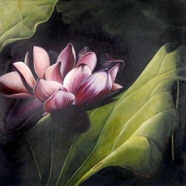 Ashley Coll - Midnight Lotus painting