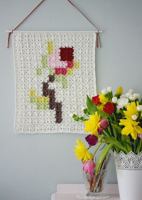 Free Pattern for this Crochet Wall Hanging,From Coco Rose Diaries.
