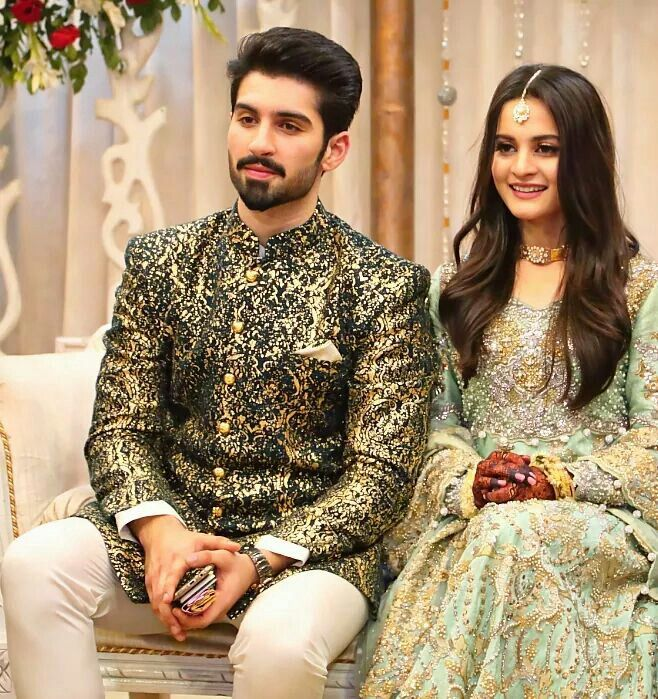 Aiman Khan and Muneeb Butt beautiful new couple