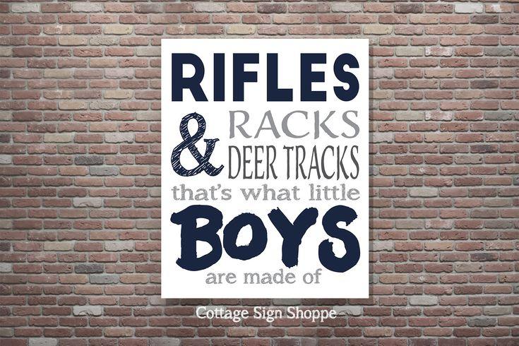 On Sale Hunting Nursery Decor,Rifles Racks & Deer Tracks,Boys Wall Art,Boys Hunting Sign,Boys Hunting Poster,INSTANT DOWNLOAD,Kid's Wall Art by CottageArtShoppe on Etsy