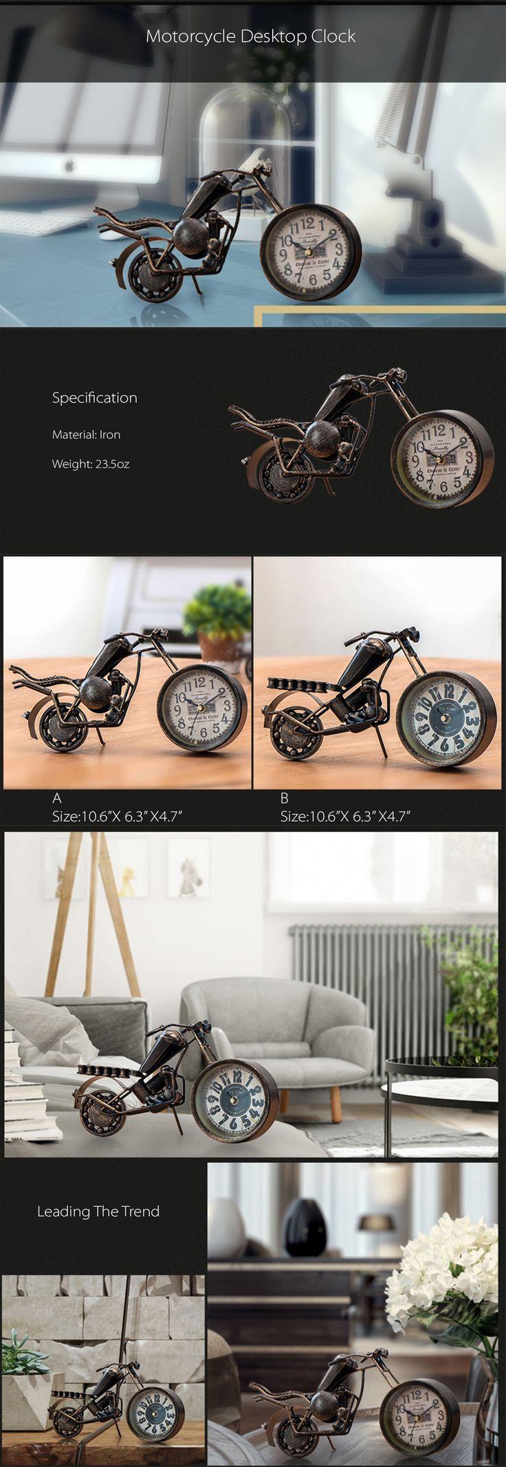 Motorcycle Desktop Clock Great Gift For Motor Lovers